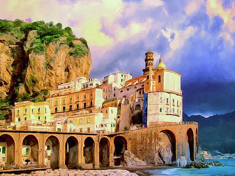 Sunset at Atrani Amalfi Coast by Dominic Piperata