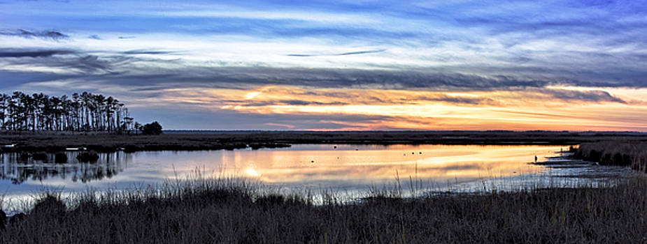 Sunset at Blackwater National Wildlife Refuge - Eastern Shore by Brendan Reals