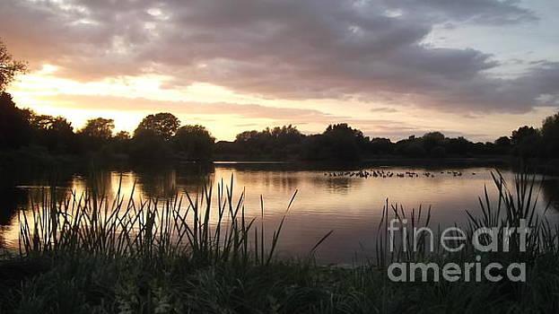 Sunset at Bourton Lake by John Williams