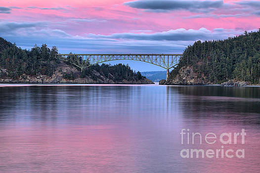 Sunset At Deception Pass by Adam Jewell