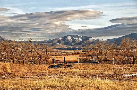James Steele - Sunset at Elk Mountain WY
