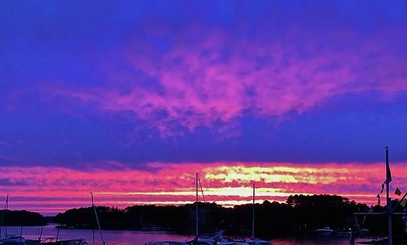 Sunset At Lake Norman by Cynthia Guinn