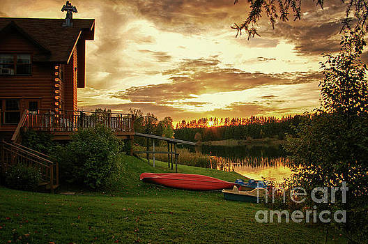 Sunset at Lakeside Lodge by Lynn Bolt