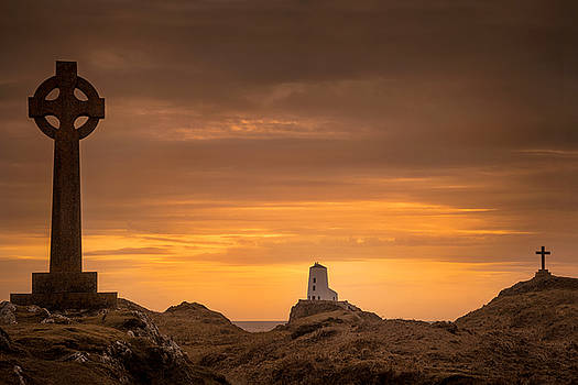 Sunset at Llanddwyn Island by Christine Smart