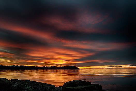 Sunset At Madrona 2 by Randy Hall