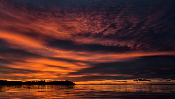 Sunset At Madrona by Randy Hall