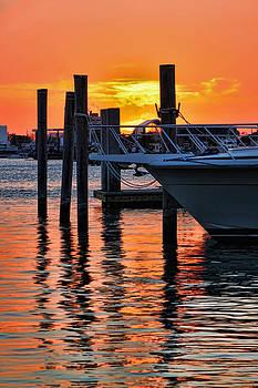 Sunset at Sailboat Marina by Jeff Breiman