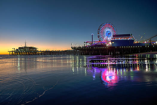 Sunset at Santa Monica Pier by Zoe Schumacher