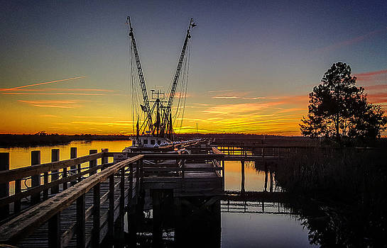 Sunset at Skippers Fish Camp by Jim Ziemer