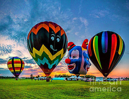 Sunset at the Balloon Festival by Nick Zelinsky