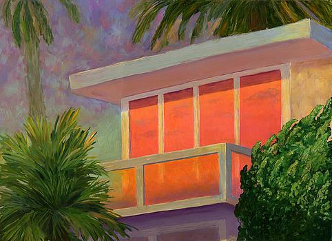 Sunset at the Beach House by Karyn Robinson