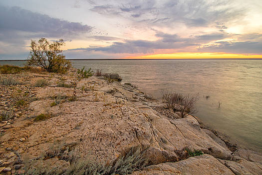 Sunset at the Cove of Overlook Point by Lois Lake