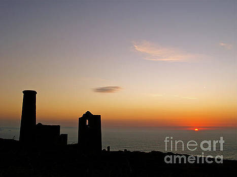 Sunset at Wheal Coats by Alex Cassels