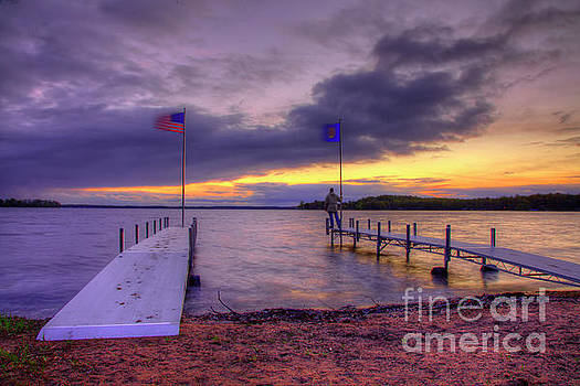 Sunset Big Sandy Camp Minnesota Governors Fishing Opener 2016 by Wayne Moran
