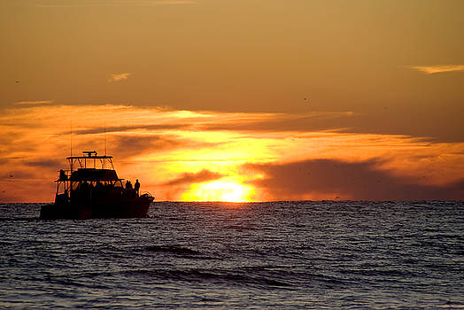 Sunset Boat by Rob Byron