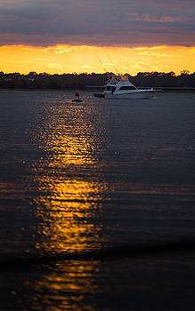 Sunset Boating by Brent Paape