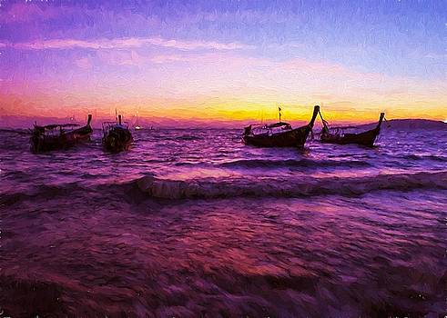 Sunset Boats by Charmaine Zoe