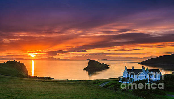 Sunset Duntulm Castle, Scotland by Henk Meijer Photography