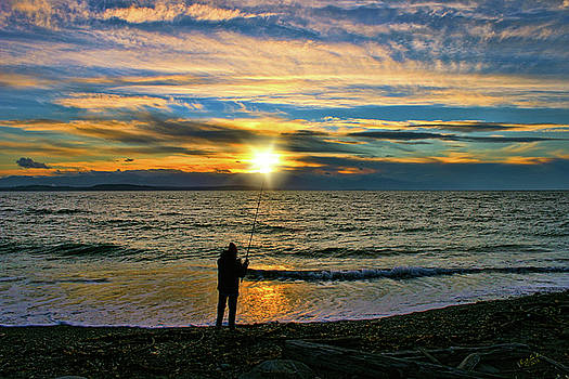 Sunset Fisher by Rick Lawler