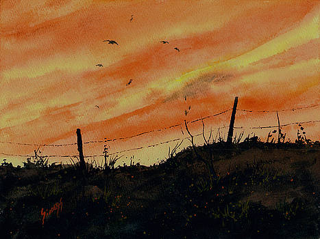Sunset Flight by Sam Sidders