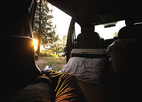Sunset from the Van by Cale Best