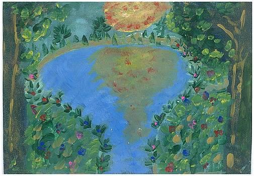 Sunset Garden by Rosemary Mazzulla