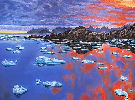 Sunset Ice Pans by Cassandra Gallant