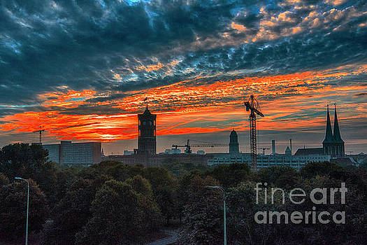 Sunset in Berlin by Pravine Chester