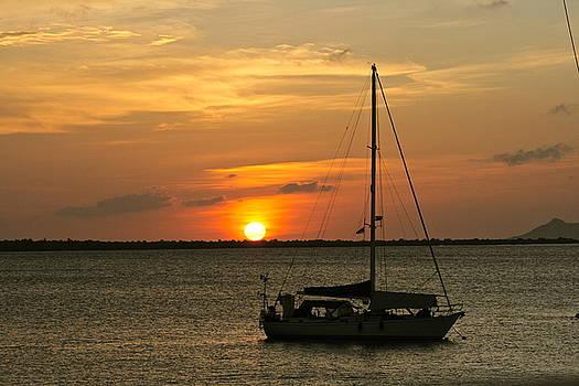 Sunset in Bonaire by Barbara Petersen