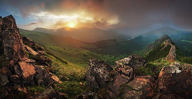 Sunset in Carapthian Mountains by Sergey Ryzhkov
