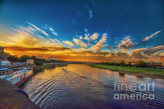 Sunset in Dresden by Pravine Chester