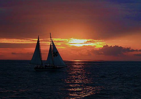 Sunset in Key West by Ron Grafe