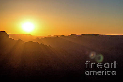 Sunset in the Canyon by Debbie Parker