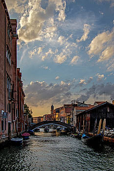 Sunset in Venice by Jean Haynes