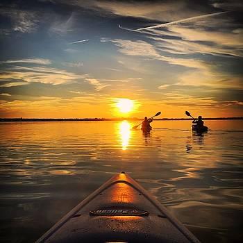 Sunset Kayak 3 by Christine Sharp