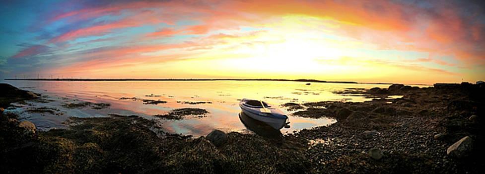Sunset Kayak by Christine Sharp