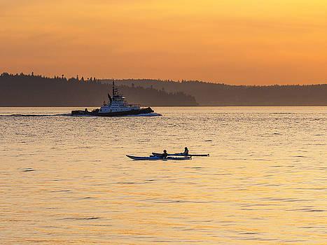 Sunset Kayaking by Kyle Wasielewski