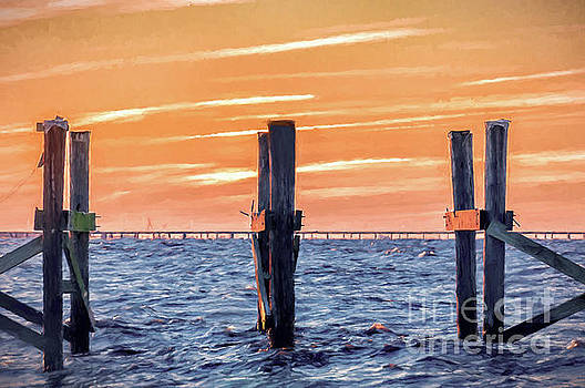Sunset Lake Pontchartrain - NOLA by Kathleen K Parker