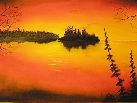Sunset Lake1 by Ron Sargent