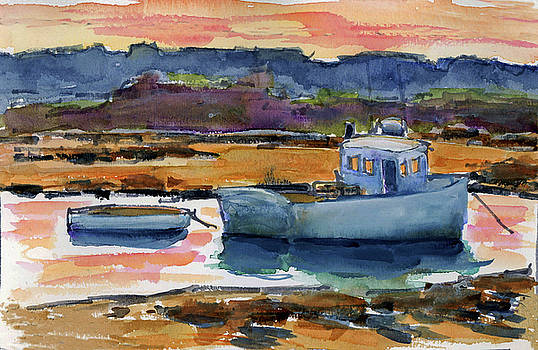 Sunset Lobster Boat  by Mary Byrom