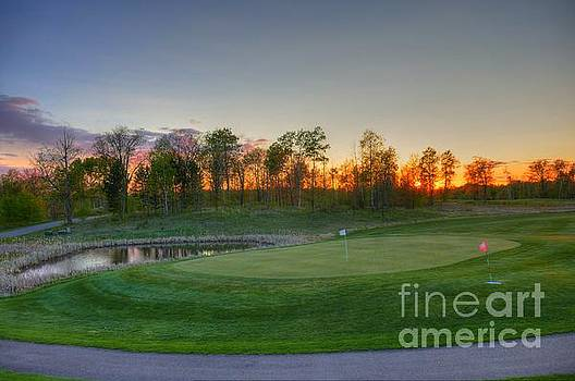 Sunset Minnesota National Golf Course Championship Course 2 by Wayne Moran