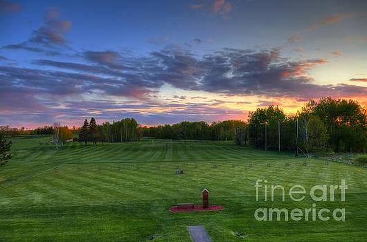 Sunset Minnesota National Golf Course Championship Course by Wayne Moran
