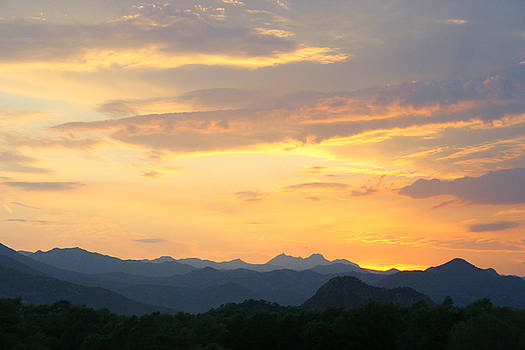 Sunset mountain by Vladimir Jovanovic