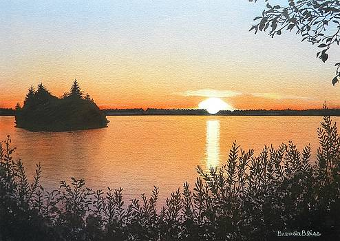 Sunset on Baby Island by Brenda Bliss