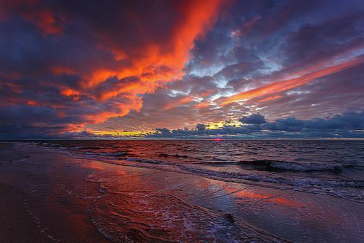 Sunset On Cape Cod National Seashore Great Island Beach by Dapixara Art