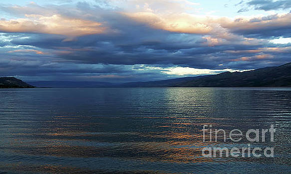 Sunset on Okanagan Lake by Barbara McMahon