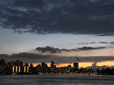 Sunset on New York City by Peter Aiello