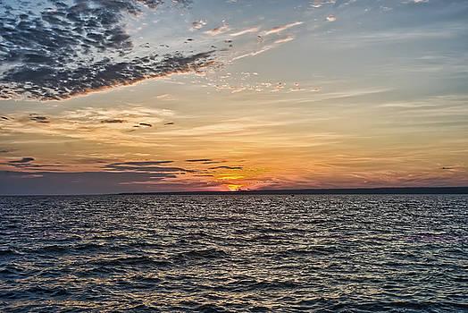Sunset on Sylvan Beach by Pat Carosone