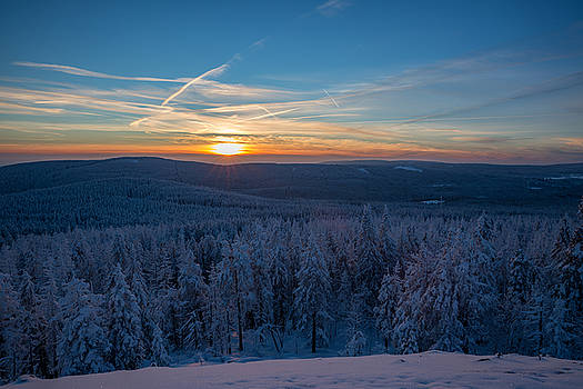 sunset on the Achtermann, Harz by Andreas Levi