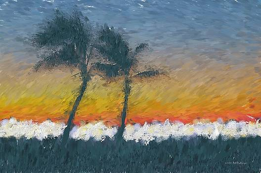Sunset on The Beach by Bill